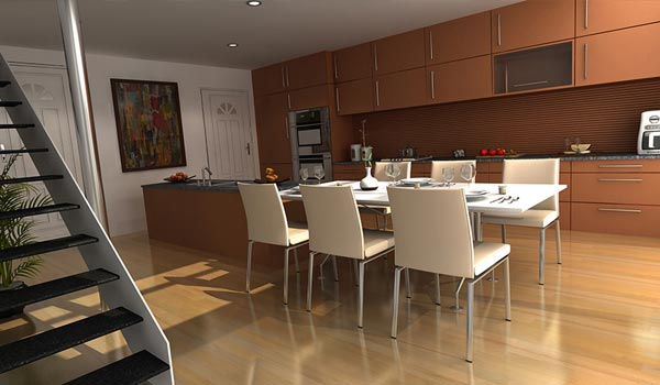 3D Interior Animation for Kitchen