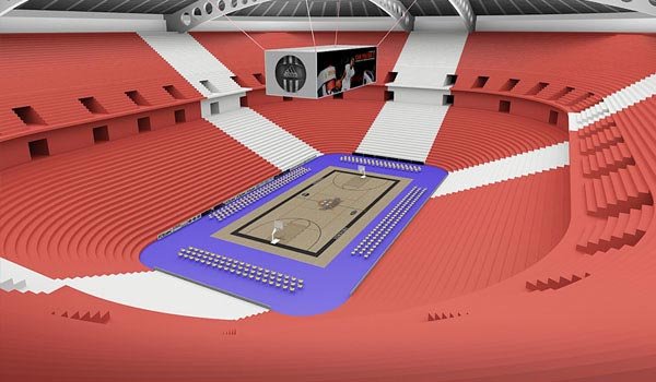 Stadium 3D Rendering Model