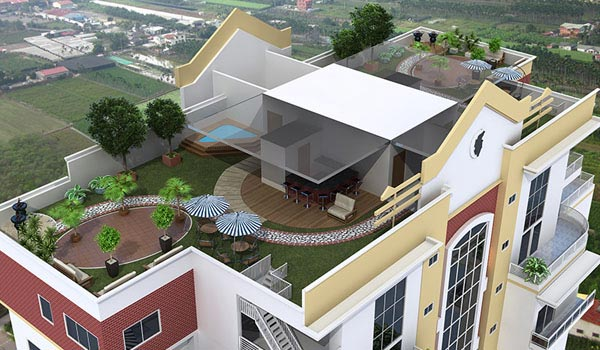 Architectural 3D Rendering view