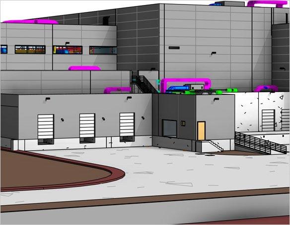 Revit Modeling Services - 3D View