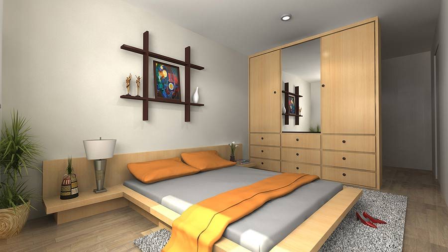 3d interior rendering services outsource 3d interior modeling for Bedroom designs 3d model